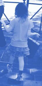 blue girl italy